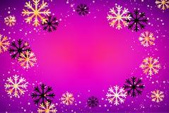 De achtergrond van de winter Abstracte illustratie met sneeuwvlokken Gemakkelijk modern malplaatje Stock Fotografie