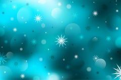 De achtergrond van de winter Abstractie Sneeuwvlokken Kerstmis i stock illustratie