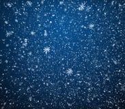 De achtergrond van de winter, blizzarden Stock Foto