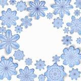 De achtergrond van de winter Een rond frame royalty-vrije illustratie