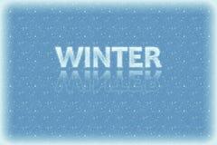 De Achtergrond van de winter en van Kerstmis met Sneeuwvlokken royalty-vrije stock foto