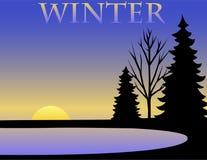 De Achtergrond van de winter/eps Stock Afbeeldingen