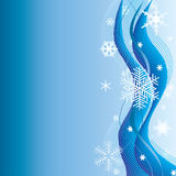De achtergrond van de winter met sneeuwvlokken. Royalty-vrije Stock Afbeelding