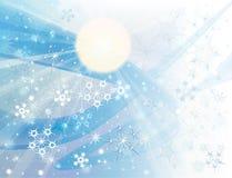 De achtergrond van de winter met sneeuwvlokken Royalty-vrije Stock Foto's