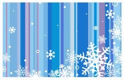 De achtergrond van de winter met sneeuwvlokken Stock Fotografie