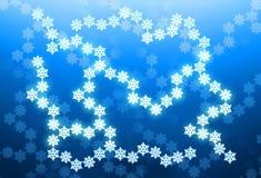 De achtergrond van de winter met sneeuwvlokken Stock Foto