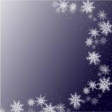 De achtergrond van de winter met sneeuwvlokken stock illustratie