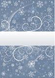 De achtergrond van de winter met sneeuwvlokken royalty-vrije illustratie