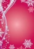 De achtergrond van de winter met sneeuwvlokken Stock Afbeelding
