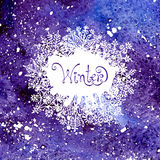De achtergrond van de winter met sneeuwvlokken Het schilderen vector illustratie