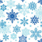 De achtergrond van de winter met sneeuwvlokken Vector naadloos patroon Royalty-vrije Stock Fotografie