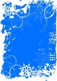 De achtergrond van de winter, sneeuwvlok Royalty-vrije Stock Fotografie