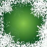 De achtergrond van de winter, sneeuwvlokken Stock Foto's