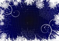 De achtergrond van de winter, sneeuwvlokken Stock Afbeelding