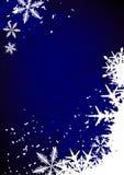 De achtergrond van de winter, sneeuwvlokken Stock Afbeeldingen