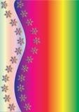 De Achtergrond van de Winter van de regenboog Royalty-vrije Stock Foto's