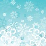 De achtergrond van de winter, vector royalty-vrije illustratie