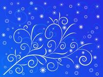 De Achtergrond van de winter - vector royalty-vrije illustratie