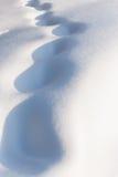 De achtergrond van de winter Verse zonovergoten sneeuw Royalty-vrije Stock Fotografie