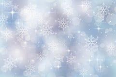 De achtergrond van de winter voor Kerstmis en vakantieseizoen Royalty-vrije Stock Fotografie