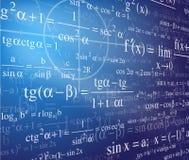 De achtergrond van de wiskunde Stock Fotografie