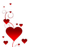 De Achtergrond van de witte Valentijnskaart Stock Foto's
