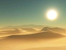De achtergrond van de woestijn Stock Afbeeldingen