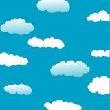 De achtergrond van de wolk en van de hemel vector illustratie