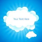 De achtergrond van de wolk met tekstruimte. Royalty-vrije Stock Foto's
