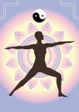 De achtergrond van de yoga Stock Afbeelding