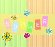 De achtergrond van de zomer Stock Foto