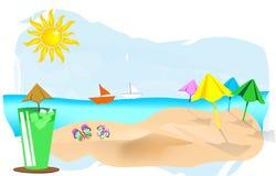 De achtergrond van de zomer Royalty-vrije Stock Foto
