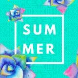 De achtergrond van de zomer hipster boho Stock Foto