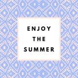De achtergrond van de zomer hipster boho Royalty-vrije Stock Afbeelding