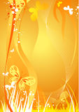 De achtergrond van de zomer met vlinder Royalty-vrije Stock Foto
