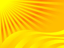 De achtergrond van de zon Stock Afbeelding