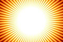 De achtergrond van de zon, gele strepen royalty-vrije illustratie