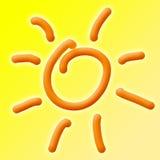 De Achtergrond van de Zon van de zomer Stock Foto