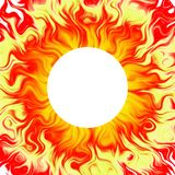 De achtergrond van de zon, zonne, vurige a Stock Foto