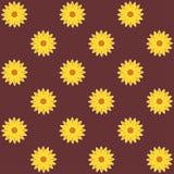 De achtergrond van de zonnebloem zonnebloem naadloos patroon vector illustratie