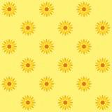 De achtergrond van de zonnebloem zonnebloem naadloos patroon royalty-vrije illustratie