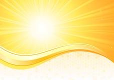 De achtergrond van de zonnestraal stock illustratie