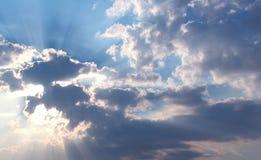 De achtergrond van de zonnestraal stock afbeelding