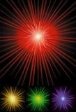 De achtergrond van de zonnestraal in kleuren Stock Foto's