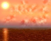De Achtergrond van de zonsondergang Stock Foto