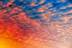 De Achtergrond van de Zonsondergang van de wolk Royalty-vrije Stock Foto's