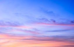 De achtergrond van de zonsopganghemel royalty-vrije stock foto's