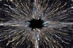 De achtergrond van de zwart gatenexplosie Royalty-vrije Stock Fotografie