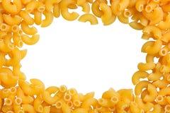 De achtergrond van de de deegwarenclose-up van de macaronihoek royalty-vrije stock foto's