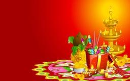 De Achtergrond van Diwali Stock Afbeelding
